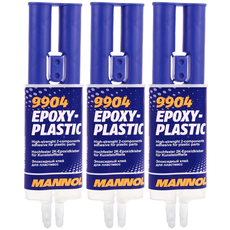 3x30g mannol epoxy plastic 2k kleber f r plastik. Black Bedroom Furniture Sets. Home Design Ideas