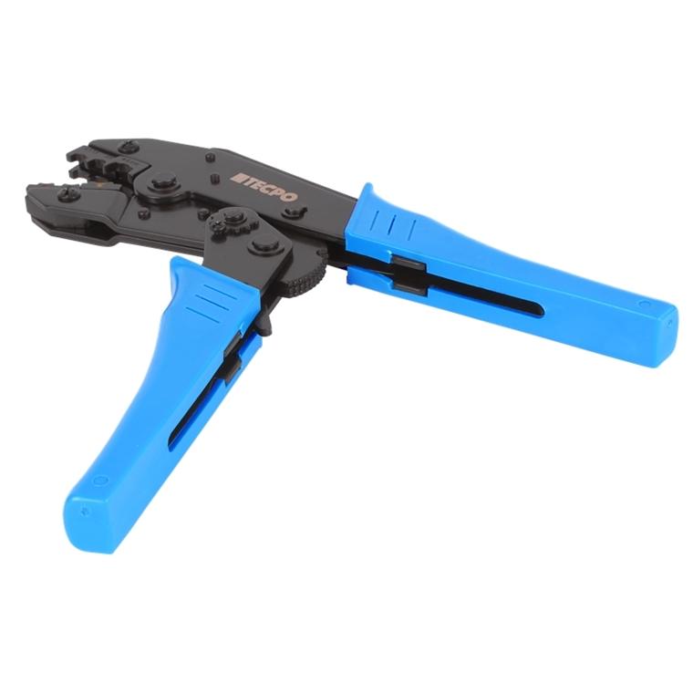 TECPO® Crimpzange Presszange Kabelschuhzange mit Ratschenfunktion 0.5-6.0mm²